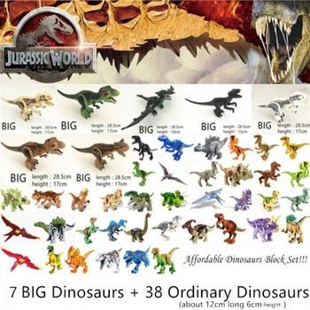 цена на Jurassic World Park Dinosaurs Family Building Blocks Affordable Set Tyrannosaurus Rex Educational Toys Gift For Children