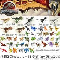 Legoed parque mundial Jurásico dinosaurios familia bloques de construcción asequible conjunto de juguetes educativos Tyrannosaurus Rex regalo para niños