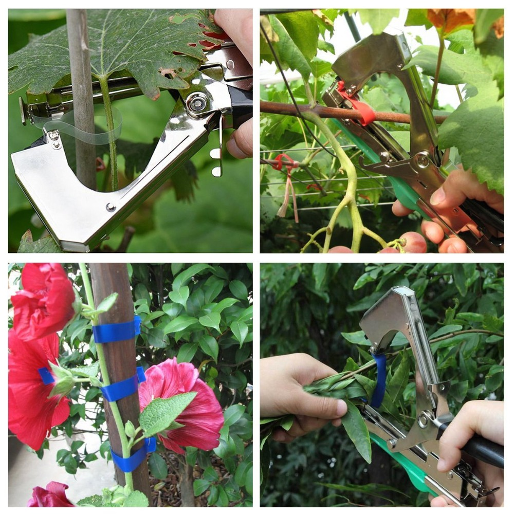 Image 2 - Garden Tools Plant Tying Machine Branch Hand Tying Machine Tapetool Tapener Packing Vegetable Stem Strapping T1  T8-in Pruning Tools from Tools