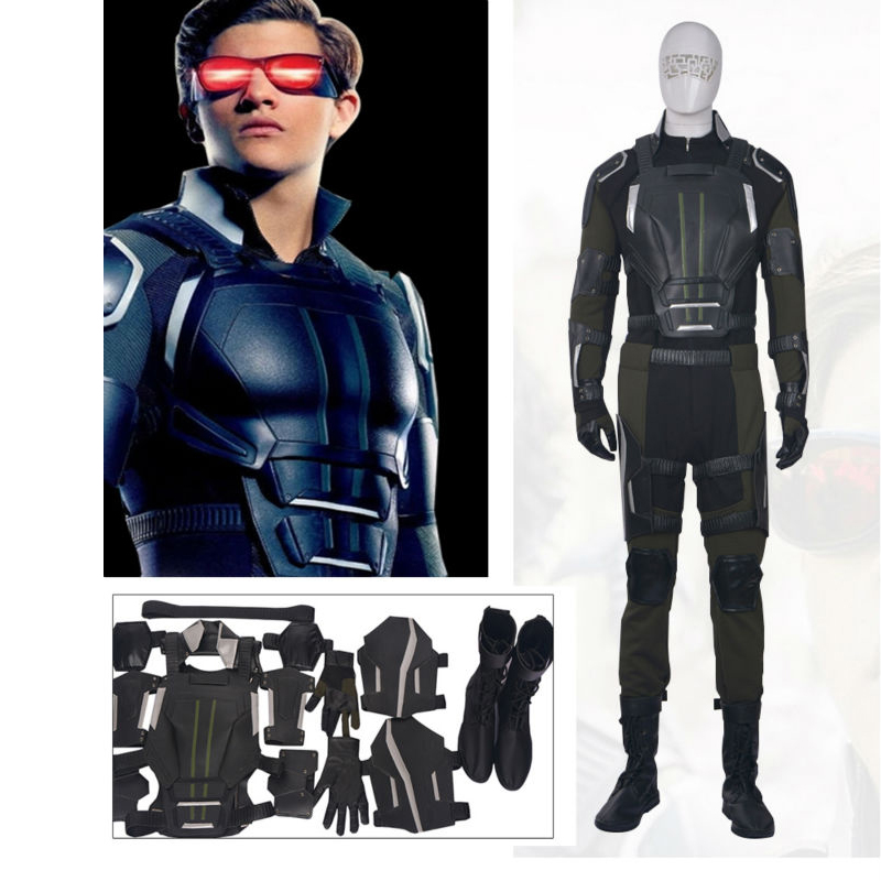 Hero Catcher  High Quality Custom Made X-Men Apocalypse Cyclops Cosplay Costume X-Men Costume For Man