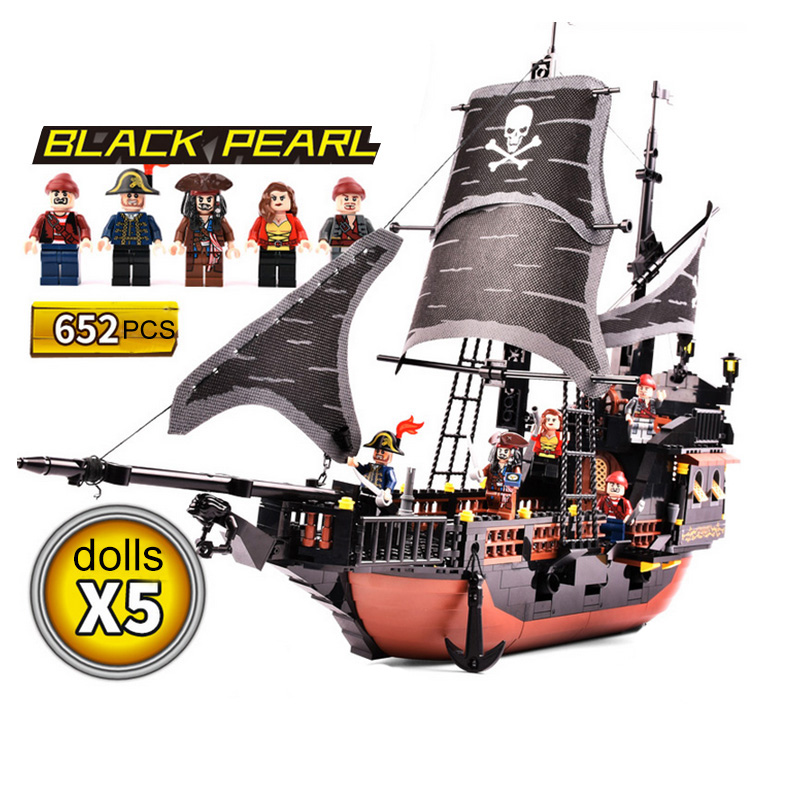 652pcs Mini Bricks 2017 New Model Blocks Pirates toy Pirate Series  Model Figure Children Toys Set paulmann 97 652