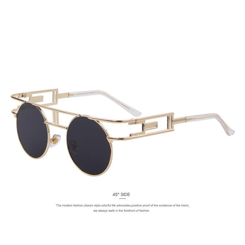 MERRYS Fashion Women Brand Designer Unique Gothic Sunglasses Metal Frame Steampunk Men Sunglasses Oculos de sol UV400