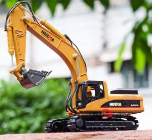 Image 1 - high simulation alloy engineering vehicle model, 1: 50 alloy excavator toys, metal castings, toy vehicles, free shipping