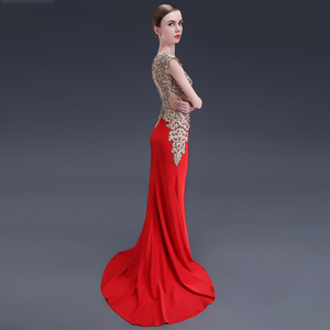 Image 4 - LPTUTTI Crystal Embroidery Plus Size New For Women Elegant Date Ceremony Party Prom Gown Formal Gala Luxury Long Evening Dresses