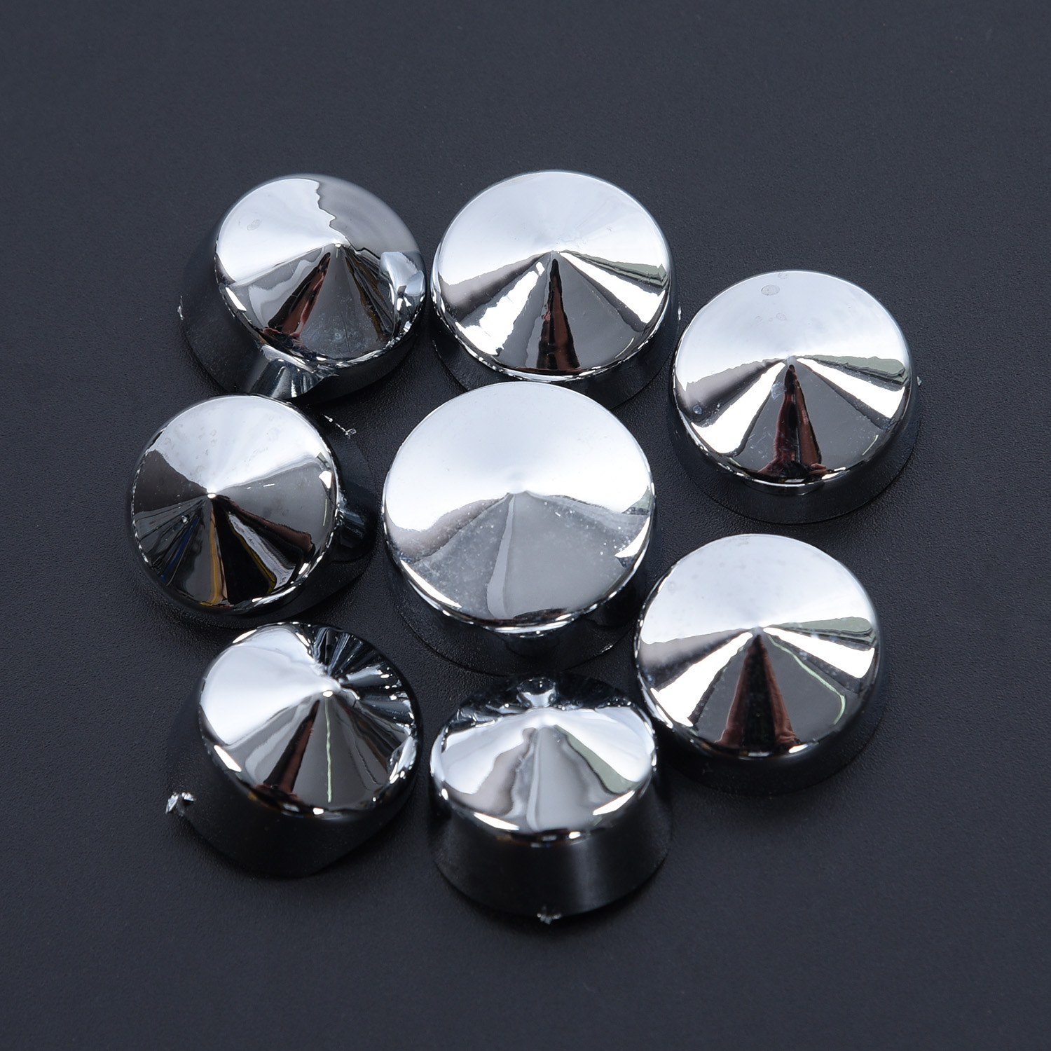 Chrome ABS Bolt Toppers Caps Cover Set Fit For Harley Softail Twin Cam 1984-2006
