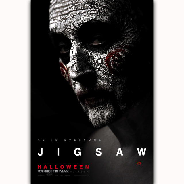 mq283 jigsaw halloween 2017 horror movie film hot new vintage art poster top silk light canvas
