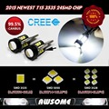 2x T15 W16W 921 LED CANBUS 3535 24SMD With Projector Lens LED High Power Light LED Bulb 1200-1400lm Strong Bright White