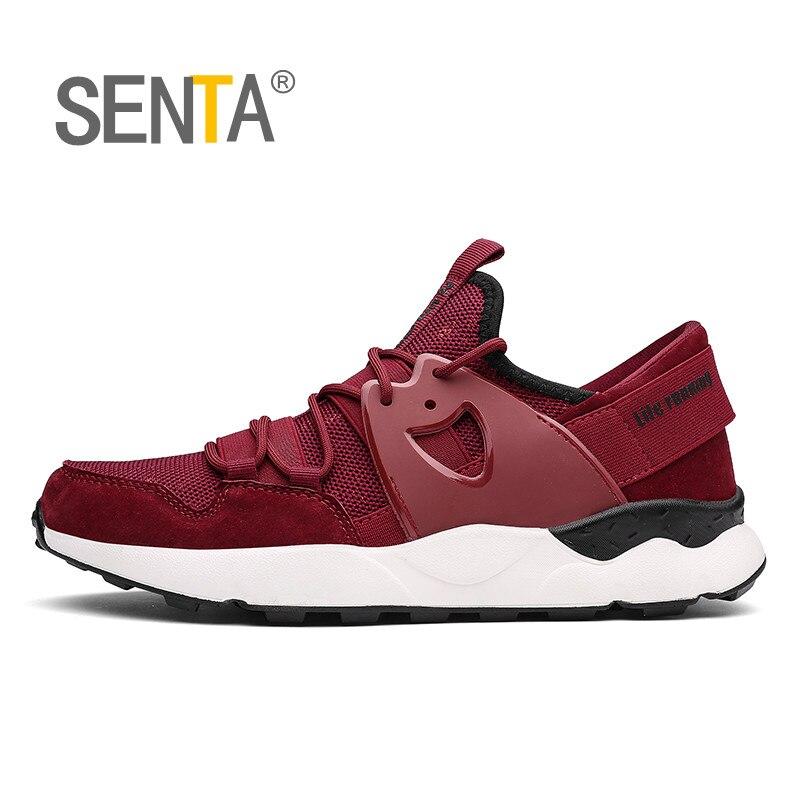 Сента 2018 спортивная обувь Для мужчин кроссовки ультра-легкие дышащие на шнуровке прогулочная кроссовки человек zapatillas hombre Депортива