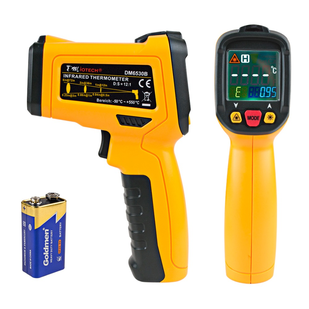 Newest Non-contact -50-550 C Handheld Digital Infrared Thermometer LCD Aquarium Laser Point Gun Pyrometer IR Temperature Meter portable non contact digital infrared thermometer laser pyrometer from 50 to 380 degree handheld ir temperature measurement gun
