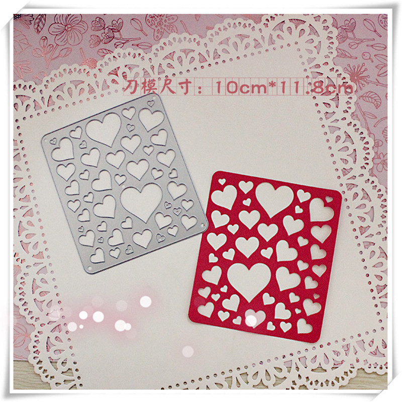 LOVE Metal Die Cutting Scrapbooking Embossing Dies Cut Stencils Decorative Cards DIY album Card Paper Card Maker polygon hollow box metal die cutting scrapbooking embossing dies cut stencils decorative cards diy album card paper card maker
