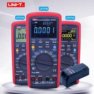 UNI-T TrueRMS Цифровой мультиметр UT171A/B/C Вольтметр Амперметр Омметр измеритель емкости частота тестер с UTD07A bluetooth модуль