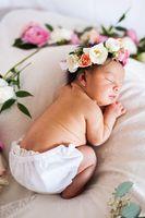 1 Pc enfants Rose Fleur Bandeau Nouveau-Né Photo Props Filles Infantile Accessoires De Cheveux D'anniversaire floral Couronne pour Bébé