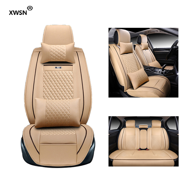 XWSN Special leather car seat cover for Volkswagen All Models vw passat b5 6 polo golf tiguan jetta touran touareg auto styling abs mirror cover chrome matt painted cap side mirror housings for volkswagen jetta golf 5 passat b6 ct