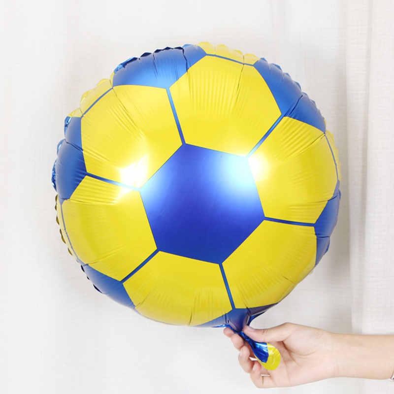 1 pc 4 estilo 18 polegada Futebol balão de Hélio balões de Aniversário Do Bebê Chuveiro Bar KTV Decoração do Dia das Crianças Esporte fontes do partido