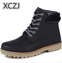 XCZJ 2018 Spring and winter Martin boots warm British men boots men short tooling men's hiking boots men's shoes A42