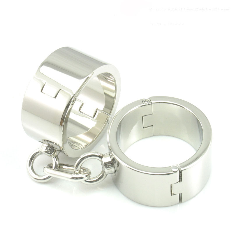 Heavy hand wrist cuffs metal bondage restraints handcuffs for sex bdsm slave fetish erotic toys for woman adult games tools stainless steel metal hand cuffs bdsm fetish wear bondage restraints handcuffs for sex erotic toys adult game sex toys for women