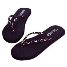 New 2018 Summer Beach Flip Flops Sandals Womens Slippers Female Flat