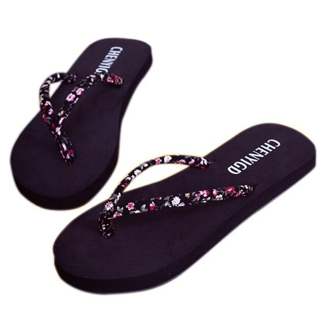 Novo 2018 Summer Beach Flip Flops Chinelos Feminino Sandálias Flat Flip Flops Sandálias das Mulheres