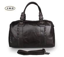 J.M.D 100% Genuine Cow Leather Classic Design Grey Color Men's Fashion Large Capacity Business Travel Bag Shoulder Bag 7190J-1 все цены