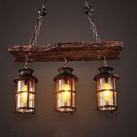 Новый оригинальный дизайн ретро промышленный подвесной светильник 2/3 голов старая лодка дерево американский кантри стиль ностальгия свет