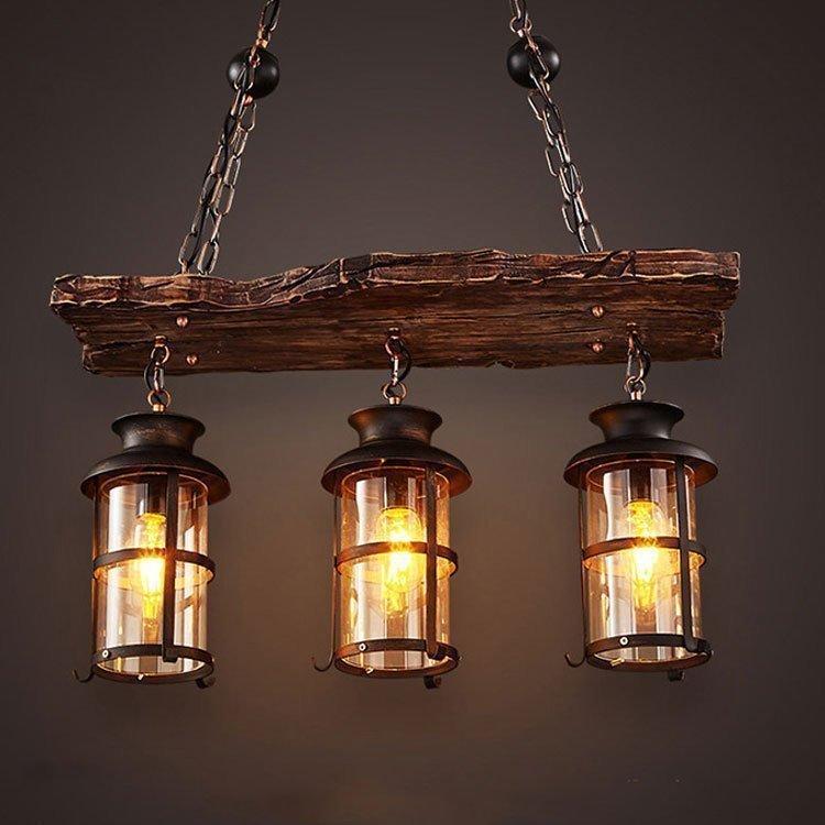 Подвесной светильник в стиле ретро, оригинальный дизайн, 2/3 головки, старая лодка, дерево, американская кантри, Ностальгический свет, беспла