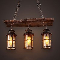 New Original Design Retro Industrial Pendant Lamp 2/3 Heads Old Boat Wood American Country style Nostalgia Light Free Shipping