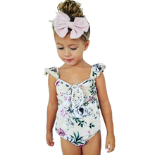 Beautiful Floral Summer Baby Girls Romper