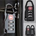 Portable Travel 3 digital combination Cross Symbol Bag Safe Number Code Padlock Lock
