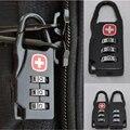 Viagem portátil 3 digital combinação Símbolo Da Cruz Saco Seguro Número Código de Bloqueio Do Cadeado
