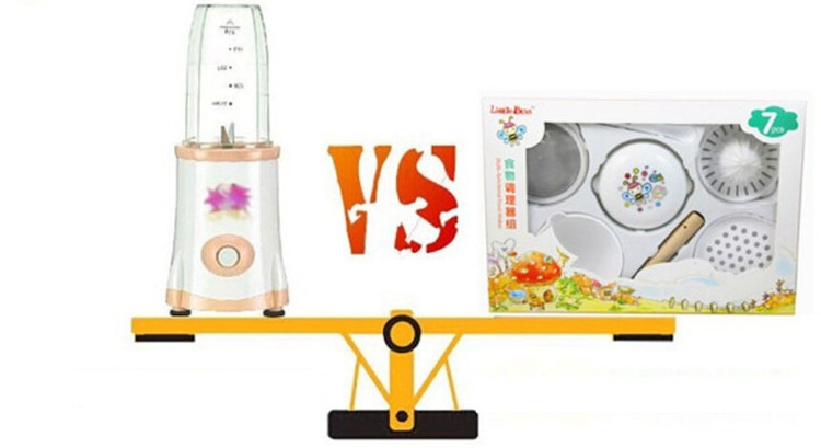 7PCS Manual Food Processor Baby Food Mills Grinder Supplies Multifunction Baby Set For Food Infant Juice Food Press Machine (6)