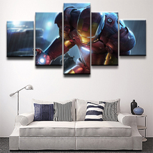 5 Piece Iron Man Superman Science Fiction Movie Paintings on Canvas Wall Art for Home Decor HD Print Modern Artwork