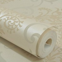 Sprinkle Gold High Grade Non Woven Flocking Damascus Wallpaper Living Room European Style Bedroom Wallpaper Papel