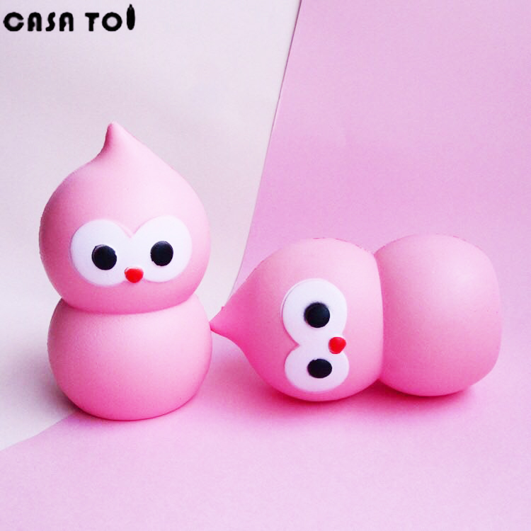 Kawaii PU Squishy Cartoon Cute Anti-strss Soft Toy Squeeze Sticky Eliminate Stress Squishies Fun Kids Jumbo Toys Gift