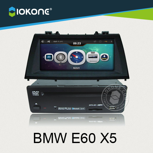 iokone car video dvd cd stereo player for bmw e60 x5 with. Black Bedroom Furniture Sets. Home Design Ideas