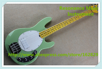 China Glossy Green Finish 4 String Music Man Electric Bass Guitars As Pictures Free Shipping