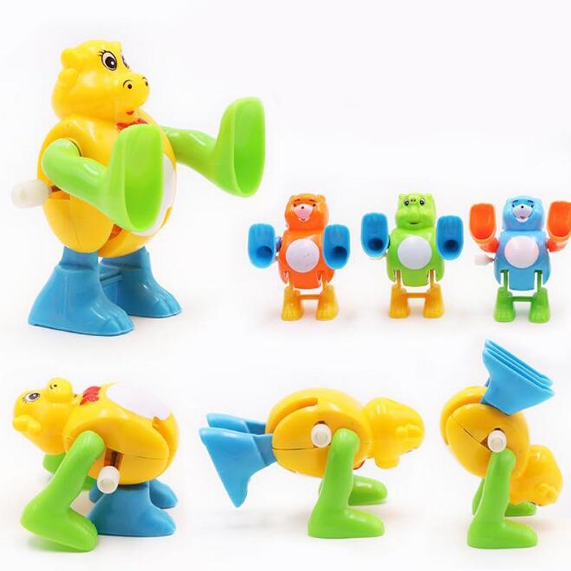 1 Pc Flipping Turnning Cartoon Tier Kinder Mechanische Uhrwerk Neuheit Gag Wind Up Pädagogisches Spielzeug Für Kinder Spiele Geschenke