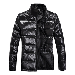 95 white duck down men casual jackets winter newest solid color fitted man glossy parka black.jpg 250x250