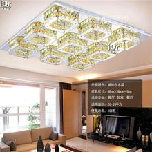 9 головы горячая Распродажа ромбовидный Спальня светодиодный потолочный светильник современный K9 Хрустальные потолочные светильники