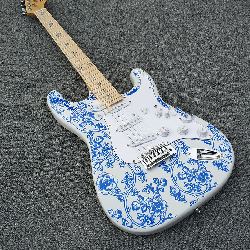 Shoes Solid Body Replica Guitar Korean Hardware Electric Guitar Top Quality Guitarra Electrica Diy Guitar Kit Fzq-089