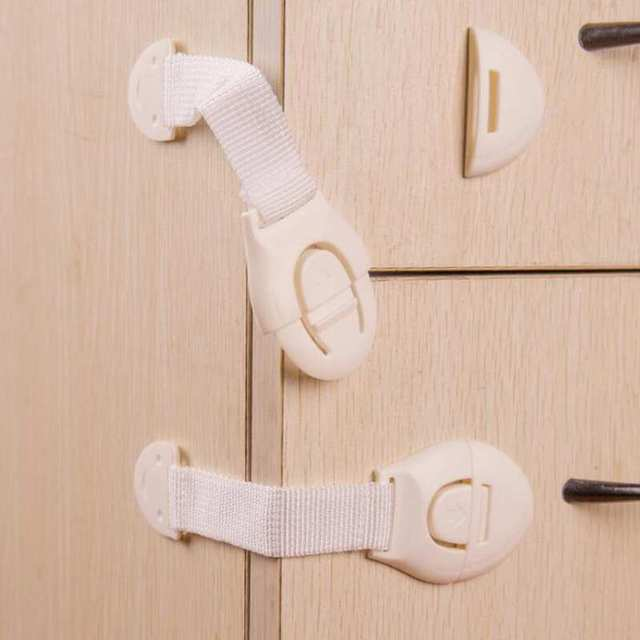 10pcs Lot Drawer Door Cabinet Cupboard Toilet Safety Locks Baby Kids Care Plastic