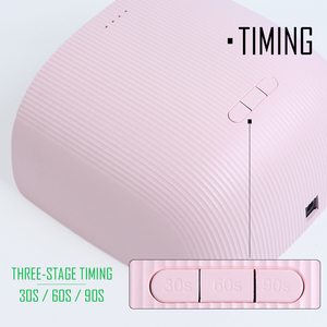 Image 4 - 36W UV LED Nail Lamp Pink Blue Nail Light Gel Polish Varnish Cured Professional Nail Dryer Dual Source Timing Manicure SA1504