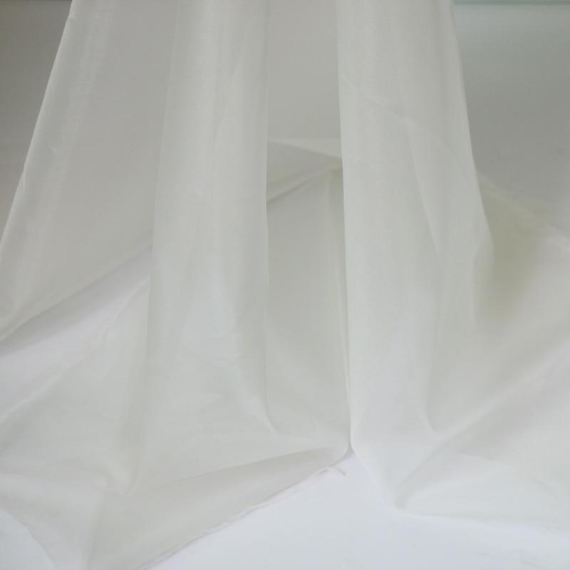 Natural White 100% Mulberry Silk Organza Fabric Gauze Tecido Meter