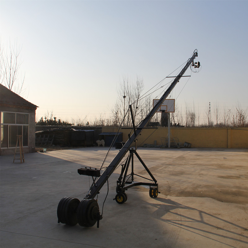 Remote 3 axis PTZ head professional jimmy jib Video Camera Crane for sale 15m 8m 3 axis jimmy jib crane for with motorized dutch head loading 16kg
