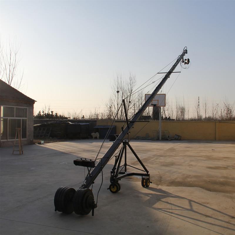Télécommande 3 axes PTZ tête professionnelle jimmy jib caméra vidéo grue à vendre 15 m