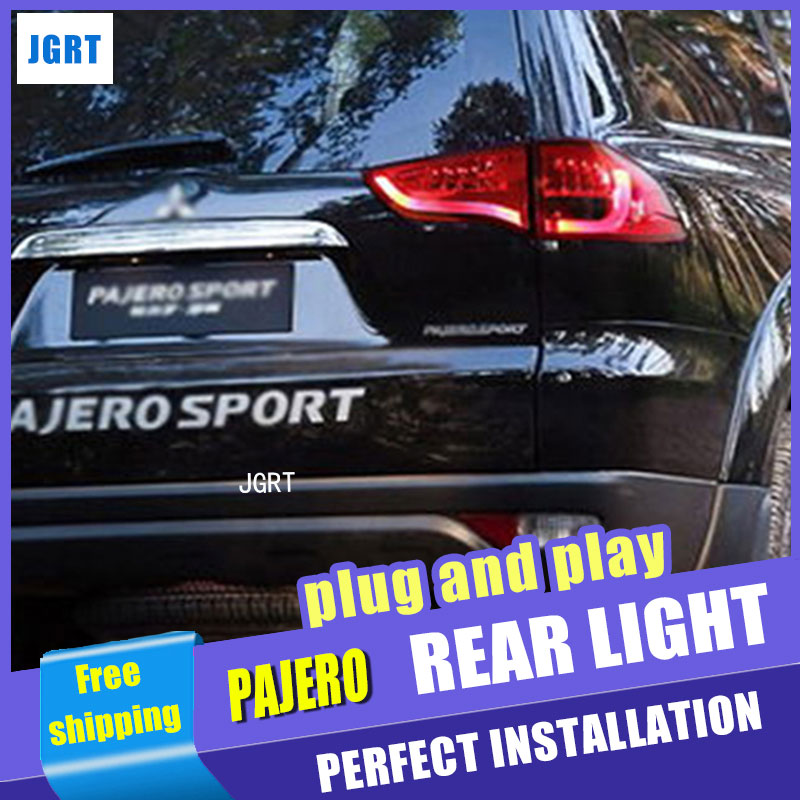 Car Styling for Mitsubishi Pajero Taillights 2013 Pajero Sport LED Tail Light Rear Lamp DRL+Brake+Park+Signal 2003 2008 year for mitsubishi pajero sport montero sport nativa pajero dakar led tail lamp rear light all smoke black color sn
