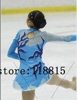 Crianças Vestido De Patinação No Gelo Competição Meninas Vestidos Azul Personalizado Figura Patinação No Gelo Figura Patinação Vestido Mulheres Artista 2017 Novo