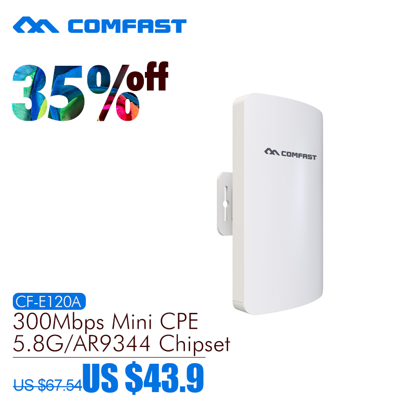 5.8G mini outdoor wireless cpe with Antena wi-fi wireless router repeater comfast 300Mbps network bridge for wifi transmission comfast cf e316n 300mbps wireless ap network bridge outdoor wi fi cpe repeater white