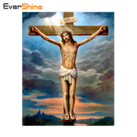 Crafts Diamond Painting Cross Stitch Jesus Full Square Rhinestone Picture Home Decor Diamond Embroidery Painting Religious