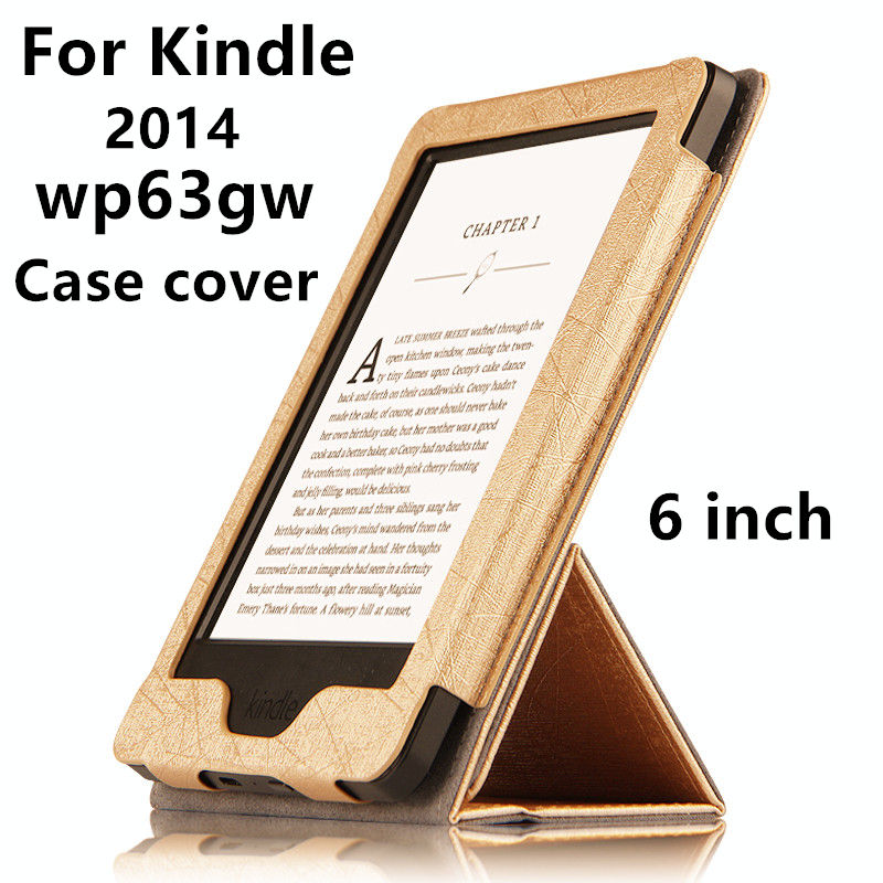 Caso Para O Leitor de eBook Kindle Protetora PU couro Smart Cover Para Amazon Kindle wp63gw 2014 listagem de Manga Casos Covers 6''