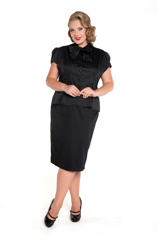 342d2cda1fe 35 summer women vintage short sleeve estelle top in black plus size ...
